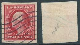 VERINIGTE STAATEN ETATS UNIS USA 1910-11 IMPERF. WASHINGTON 2c USED SC 384 YT 168 Type  F  MI 179 B SG 391 - Gebraucht
