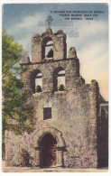 San Antonio Texas TX, Mission San Francisco De Espada C1940s Postcard- Historic - Missions