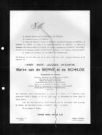 Baron Henry Van De Werve De Schilde Bourgemestre Schilde °Anvers 1844+ 26/6/1924 Brissac - Décès