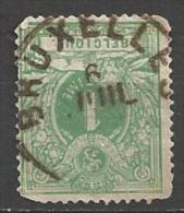 1869 1c Numeral, Perf 15, Used, Bruxelles Cancel - 1869-1883 Leopold II