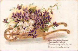 Brouette De Fleurs - Publicité Eaux-de-vie D'Algérie - Dépôt Chez Mme Boissel à Écouis (Eure) - 1900-1949