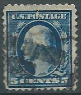 VERINIGTE STAATEN ETATS UNIS USA 1910-11 P.12 Washington Blue 5c USED SC 378 YV  MI 182 A SG 385 - Gebraucht