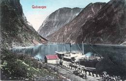 GUDVANGEN Dampfschiff Anlegestelle 1905? - Norwegen