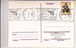 Hadres 1989 - Velo Cycle Wein Vin Raisin Keller - Natur - Ganzsache Stationery Entier Carte - Poststempel - Freistempel