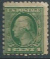 USA 1914-15 WASHINGTON P.12 Washington Green 1c USED SC 405 YV 182 Type A MI 189A SG 406 - Used Stamps