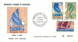 MAURITANIE  1968  Chars à Voile    -  FDC Non-adressé - Mauritanie (1960-...)