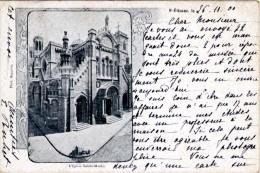 St-Etienne - L´Eglise Sainte-marie - Timbre Y&T N°103 - Cachet St-Etienne à Anvers - Saint Etienne