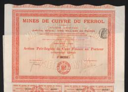 Mines De Cuivre Du FERROL (ESPAGNE) (E) - Actions & Titres