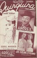 Quinquina/Eddie Warner/ Hornez/Andrex/ DECCA/ Editions Arpége/ 1949    PART77 - Partitions Musicales Anciennes