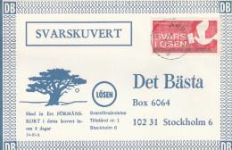 1969 Arboga SWEDEN Losen TREE  Pic ADVERT COVER Svarslosen COIL Stamps BIRD Birds - Sweden