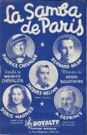 La Samba De Paris / Maurice Chevalier/ Henri Bourtayre /Royalty/ 1949    PART79 - Partitions Musicales Anciennes