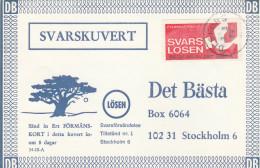 1969 Olsfors SWEDEN Losen TREE  Pic ADVERT COVER Svarslosen COIL Stamps BIRD Birds - Sweden