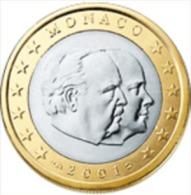 Monaco 2002    1 Euro     Prins Rainier  UNC Uit De Rol  UNC Du Rouleaux  !! - Monaco