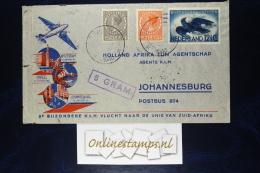 Netherlands: Cover Amsterdam -> Napels To Johannesburg, With R52 Stamp - Brieven En Documenten