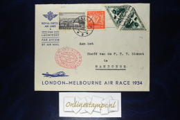 Netherlands, London-Melbourne Airrace, 1934, Uiver Mixed Stamps. - Brieven En Documenten