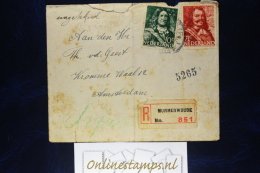 Netherlands, Cover NVPH  Registered Murmerwoude / Moarewald (Friesland RR)  Fragile - Brieven En Documenten