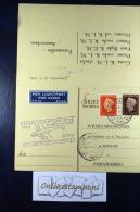 Netherlands, Postcard With Answer, First Flight Amsterdam - Paramaribo - Periode 1891-1948 (Wilhelmina)