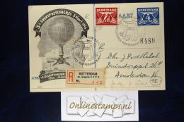 Nederland: Briefkaart 1944 7,5 Cent Bijgeplakt, Aangetekend 3e Luchtpostcongres (in Oorlogstijd!) - Postal Stationery