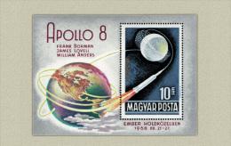 Hungary 1969. Apollo 8 - Space Sheet MNH (**) Michel: Block 68A / 6 EUR - Europe