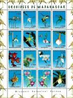 Madagascar - 2005 - Orchids - Missouri Botanical Garden - mint miniature stamp sheet