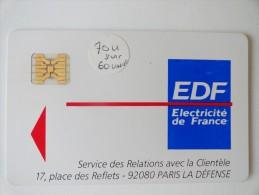 ELECTRICITÉ DE FRANCE 70 UNITÉS SUR 60 - Variëteiten
