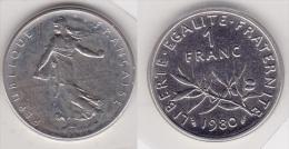 1 FRANC SEMEUSE 1980 FDC Sous Scellé (voir Scan) - France