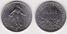 1 FRANC SEMEUSE 1993 SUPERBE (voir Scan) - France