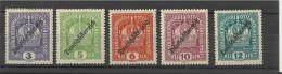 "AUSTRIA 1918 - MNH SERIE OF 5 STAMPS ""EMPEROR CROWN"" 3-5-6-10-12 HEL OVERPRINTED ""DEUTSCHOSTERREICH - Zustand: MINT NEVE"