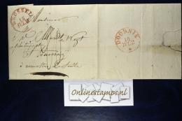 Belgium: Dutch Period Complete Letter BRUSSEL Round Cancel To Doornik 15-07-1830 - 1815-1830 (Periodo Olandese)