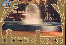 Libia - bengasi - veduta della fontana al tramonto - 38 - formato grande non viaggiata