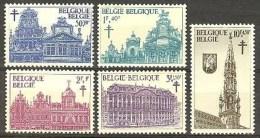 Belgium**Brussels-Market-Grande Place-5vals-Tuberculosis-1965-Architecture-MNH - Belgium