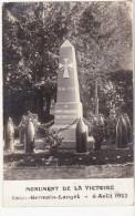 CARTE PHOTO SAINT GERMAIN DE LANGOT MONUMENT DE LA VICTOIRE 06 AOUT 1922 - Frankreich