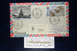 TAAF, Cover 1982  Mixed Stamps  Recommandé - French Southern And Antarctic Territories (TAAF)