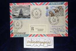 TAAF, Cover 1982  Mixed Stamps  Recommandé - Terres Australes Et Antarctiques Françaises (TAAF)