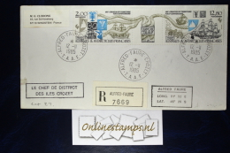 TAAF, Cover 1985  Mixed Stamps   Recommandé - French Southern And Antarctic Territories (TAAF)