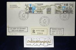 TAAF, Cover 1985  Mixed Stamps   Recommandé - Terres Australes Et Antarctiques Françaises (TAAF)
