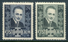 """1934 Austria MNH Complete Set Of 2 Stamps """" President Dollfuss """", Michel 589-590 - 1945-.... 2nd Republic"""