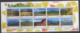 JAPAN ,2014,MNH,MOUNTAINS, PART V,PHOTOS, SHEETLET - Geologie