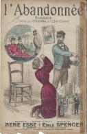 L'Abandonnée/Romance/ Grisard/René Esse/Emile Spencer//Charaire/Sceaux/Vers 1885-1895     PART87 - Partitions Musicales Anciennes