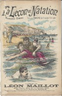 La Leçon De Natation/Monologue Comique /Fugére/Léon Maillot/Repos/ / Vers 1885-1895     PART89 - Partitions Musicales Anciennes