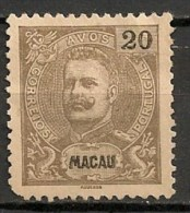 Timbres - Portugal - Macao - 1898 - 20 Avos - - Macao