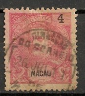 Timbres - Portugal - Macao - 1898 - 4 Avos - - Macao