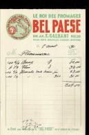 Facture Illustrée Le ROI DES FROMAGES BEL PAESE Soc An E.GALBANI MELZO - 1900 – 1949
