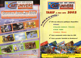 TARIFS  TELECARTES  CARTUNIVERS    2000 2002 2002 2006  (lot De 4) - Télécartes