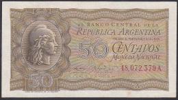 Argentina, 50 Centavos, P.259b (Letter A / Without 'Garrasi') VF+ - Argentina