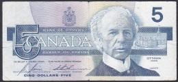 Canada, 5 Dollars, P.95c (Bonin/Thiessen) VG - Canada