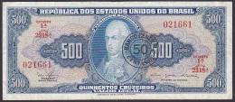 Brazil, 50 Centavos Overstamp, P.186 (Overprinted P.172) F - Brazil