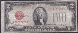 U.S.A, 2 Dollars, P.378d (Series Of 1928D) VG (Paper Soiling) - United States Notes (1928-1953)