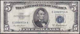 U.S.A, 5 Dollars, P.417a (Series 1953A) VG - Silver Certificates (1928-1957)