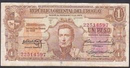 Uruguay, 1 Peso, P.35c (Series C) VF - Uruguay